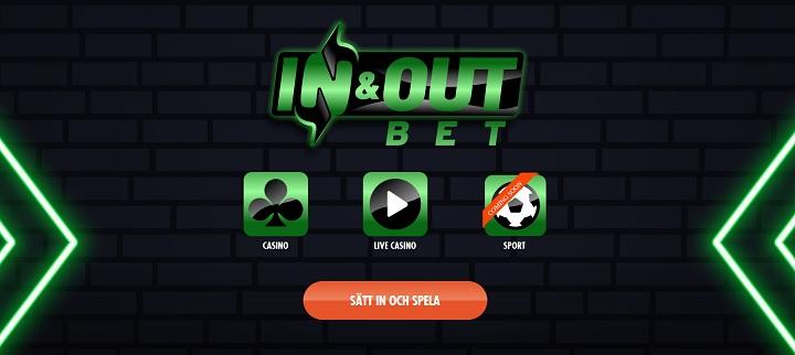In and Out Bet nytt spelbolag med svensk licens 2020